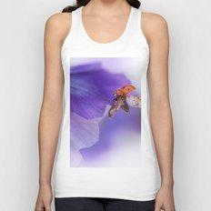 Ladybird on violet Unisex Tank Top