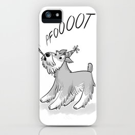 Cute Party Schnauzer, Dog Print! iPhone Case