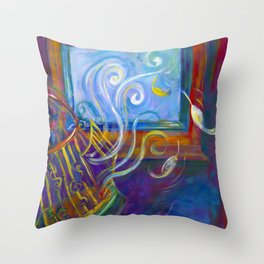 Freedom to Live Throw Pillow