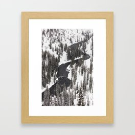 Yellowstone National Park - Lewis River Framed Art Print
