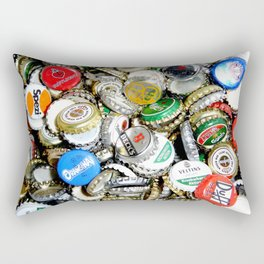 Bottle Caps Painting | Vintage Rectangular Pillow