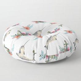 Summertime Nautical Narwhal Floor Pillow