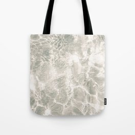 Clear water | beach fine art photography | sea wave and sand Tote Bag