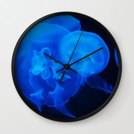 Blue Jelly Fish Wall Clock