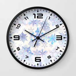 Snowflakes #4 Wall Clock