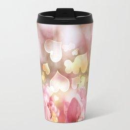 i heart Pink Crabapple Tree Blossoms Travel Mug