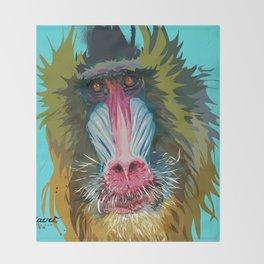ANIMAL: Baboon Throw Blanket