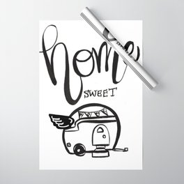 HOME SWEET HOME RV CAMPER Wrapping Paper