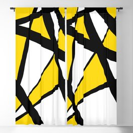 Sunshine Yellow Geometric Triangles Abstract Blackout Curtain
