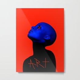 MULHER ART AZUL X Metal Print