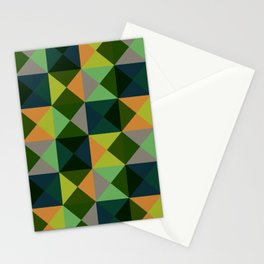 Oiwa - Colorful Green Decorative Abstract Art Pattern Stationery Cards
