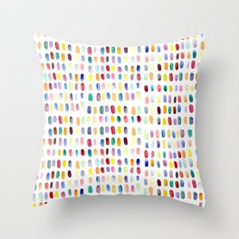 A brush of color Throw Pillow