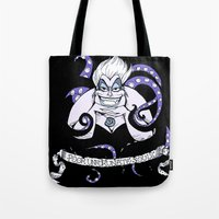 ursula Tote Bags featuring Ursula by ArielPerrenot