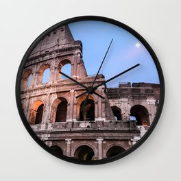 Colosseum at Night Wall Clock