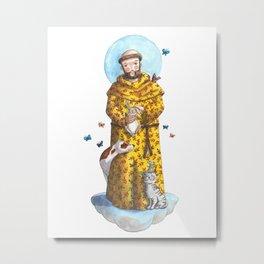 Saint Francis of Assisi / São Francisco de Assis (yellow/amarelo) Metal Print