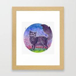 Gwendolyn the Psychic Cat Framed Art Print