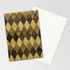Wooden Diamonds Stationery Cards