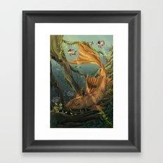Golden Catfish  Framed Art Print