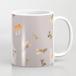 Mushroom Pattern - Warm Grey Coffee Mug