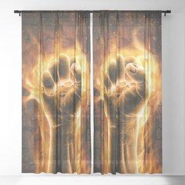 Fire fist Sheer Curtain
