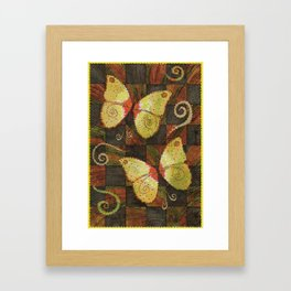 butterfly wind Framed Art Print