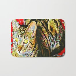 The TIGER from our FUNK YOUR FELINE line Bath Mat