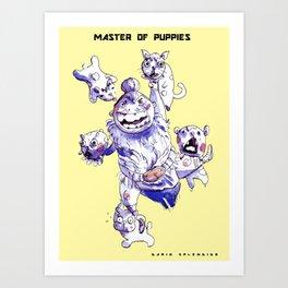 Master of Puppies - Dario Splendido Art Print