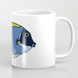 Powder Blue Tropical Fish Illustration Coffee Mug