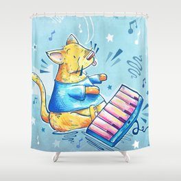 Keyboard Cat Says Thank You Shower Curtain