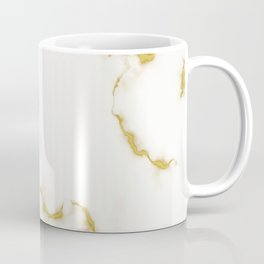 Luxury white and gold faux marble Coffee Mug