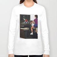mario kart Long Sleeve T-shirts featuring Retro Mario Kart by Woah Jonny