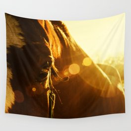 Evening Flare Horse Photograph Wall Art Wall Tapestry