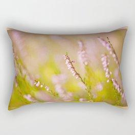 Soft focus of pink heather macro Rectangular Pillow