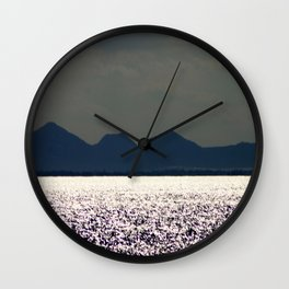 Glitter across the Bay Wall Clock