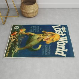 Vintage poster - The Lost World Rug