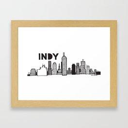 Indy skyline Framed Art Print