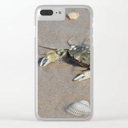 Beach Crab Clear iPhone Case