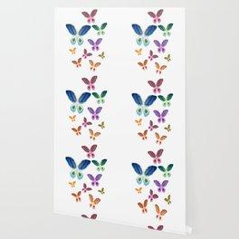 A Rainbow of Agate Butterflies Wallpaper