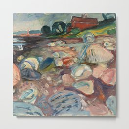"Edvard Munch ""Shore with Red House"", 1904 Metal Print"