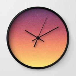 Frozen Ombre - Silent Sunrise Wall Clock
