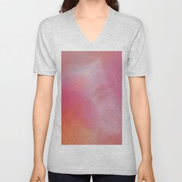 Abstract orange red Unisex V-Neck