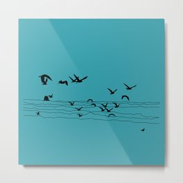 Seagull Beach by Seasons K Designs Metal Print