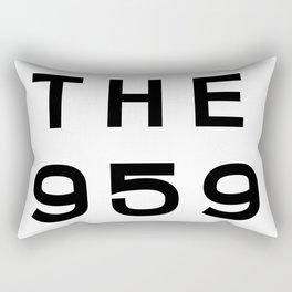 959 Connecticut Area Code Typography Rectangular Pillow