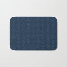 Carnivorous Damask (Blue) Bath Mat