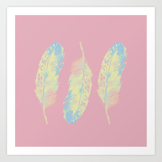 Abstract Feathers Art Print