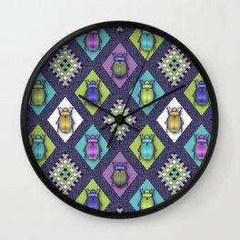 Scarabs Quilt Wall Clock