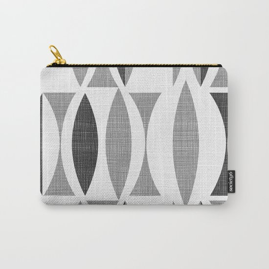 Seventies Black and White Carry-All Pouch
