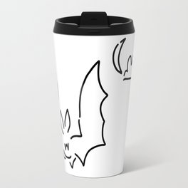 bat flughund at night moon Travel Mug