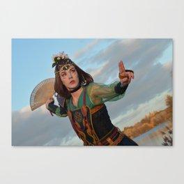 Fan warrior Canvas Print