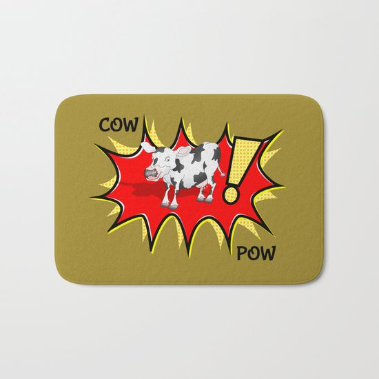 Cow in a KAPOW starburst Bath Mat
